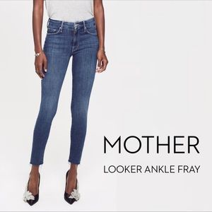 MOTHER Looker Ankle Fray skinny jeans Size 27